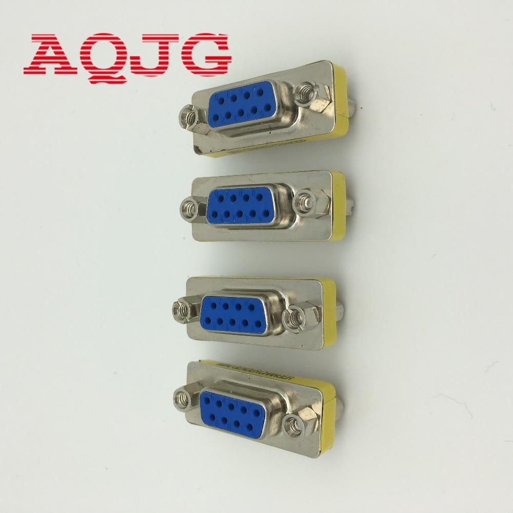 Elitee DB9 Female to Female Gender Changer Female Connector Adapter 5 PCS