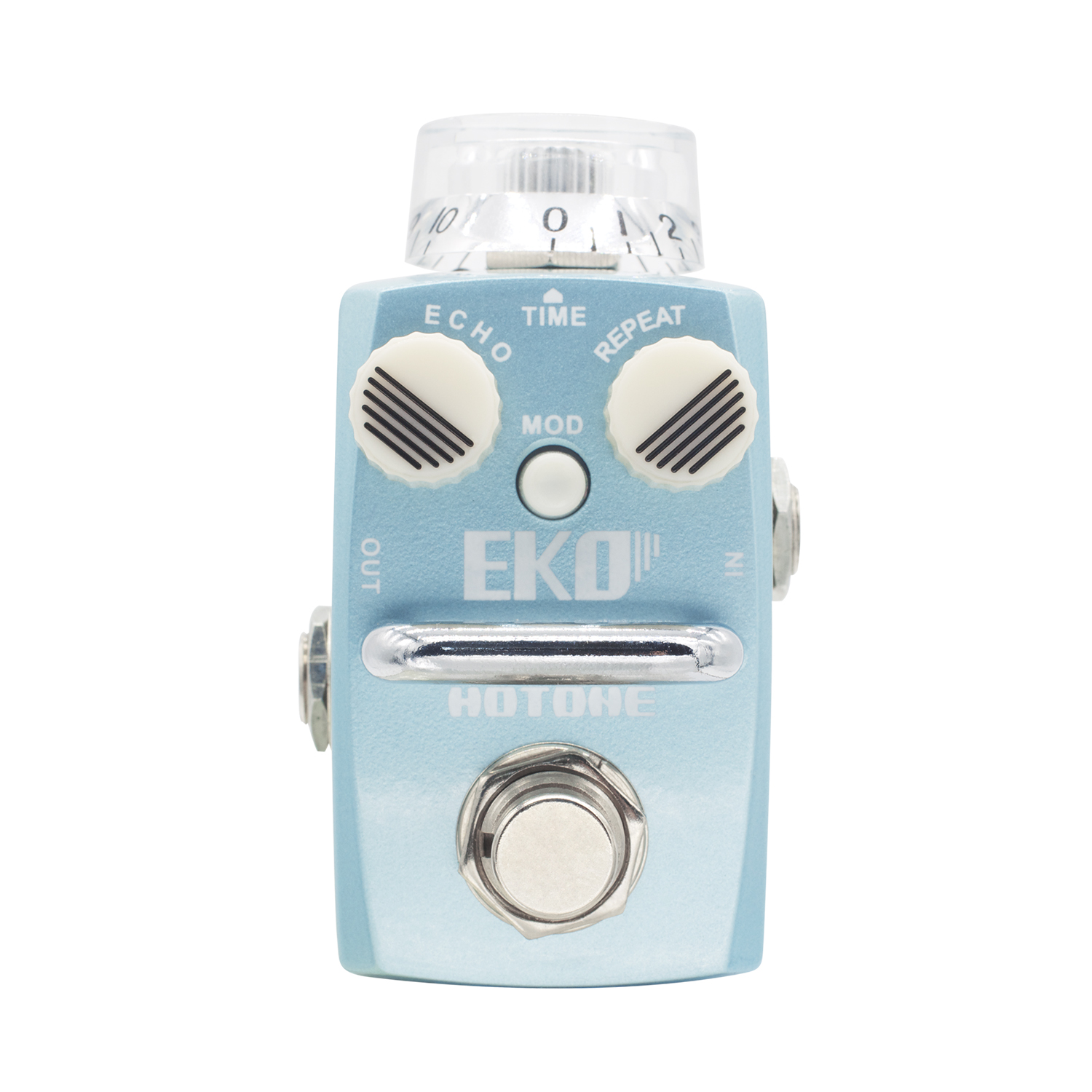 Hotone EKO Delay Effect Pedal True Bypass Digital/Analog Delay Stompbox Effects for Electric Guitar aroma adl 1 true bypass delay electric guitar effect pedal high quality aluminum alloy guitar accessories delay range 50 400ms