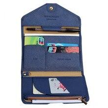 Mode reise brieftasche Reisepass Auslösung Wallet Card Pack Multifunktions frauen reisetasche Umschlag 3 Folding Scheckheft