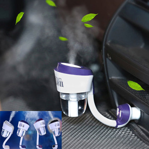 Nanum ii New 12V II Car Steam Humidifier with 2pc Car Charger USB,Air Purifier Aroma Oil Diffuser Aromatherapy Mist Maker Fogger