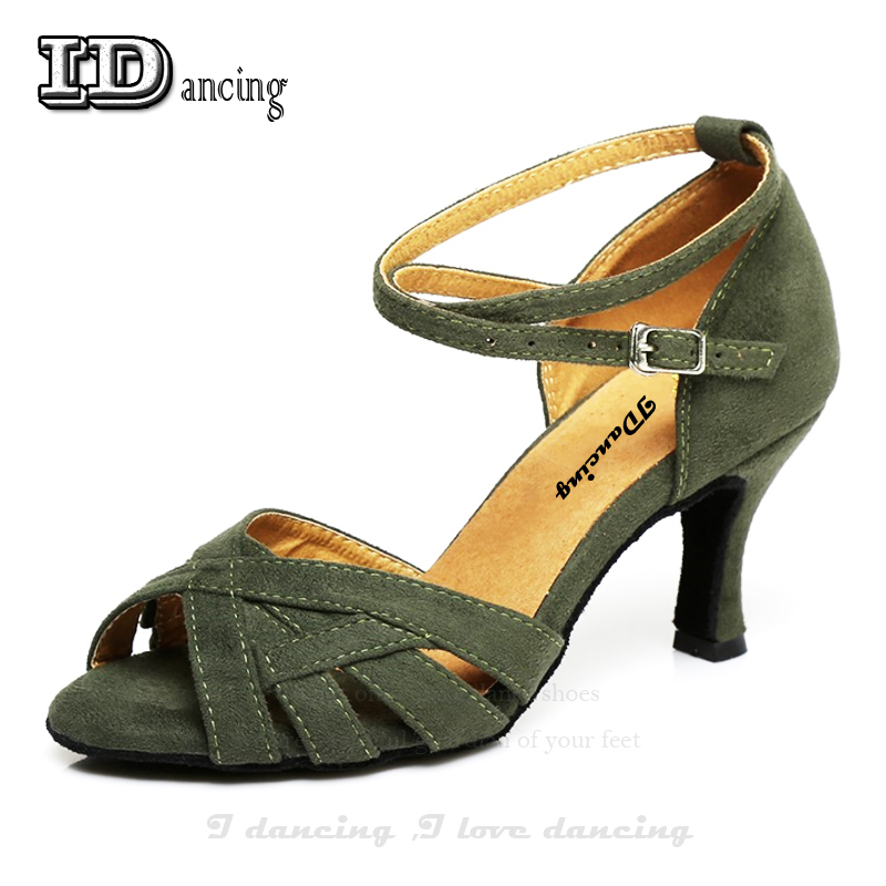 Sapatos De Dança De Salão latina Tango Valsa Jazz Quadrados Salas JuseDanc Sapatas Das Mulheres Sapatos de Dança Latina Das Mulheres Sapatos Confortáveis