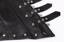 Leather Underbust Corset Clubwear Waist Cincher