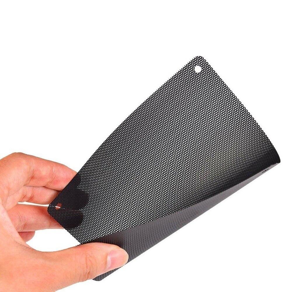 3PCS/lot Computer Chassis Dust-Proof Net Black PC Fan Dust Filter Plastic Dustproof Computer Case Mesh 80x80mm 8CM