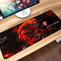 Sovawin 80*30cm Gaming Maus Pad Große XL Dragon Logo Computer Mousepad XXL Gummi Schreibtisch Matte für Laptop für LOL Dota 2