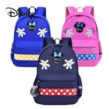 348aa0a9b29e 2019 disney Микки Маус школьный рюкзак Микки Минни для мальчиков и девочек  От 6 до 12 лет Детская Водонепроницаемая дорожная сум.