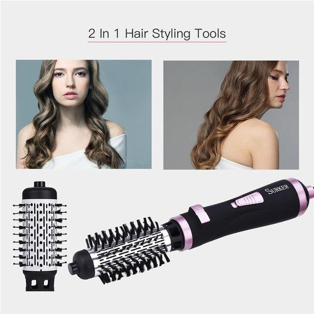 2 в 1 Многофункциональный Электрический Фен  щетка роликовый вращающийся стайлер расческа выпрямление щипцы для завивки волос Инструменты для укладки волос