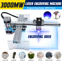 3000mW CNC Laser Engraving Engraver Router 17x21cm Laser Cutter Engraving Machine DIY Desktop Wood Cutter/Printer
