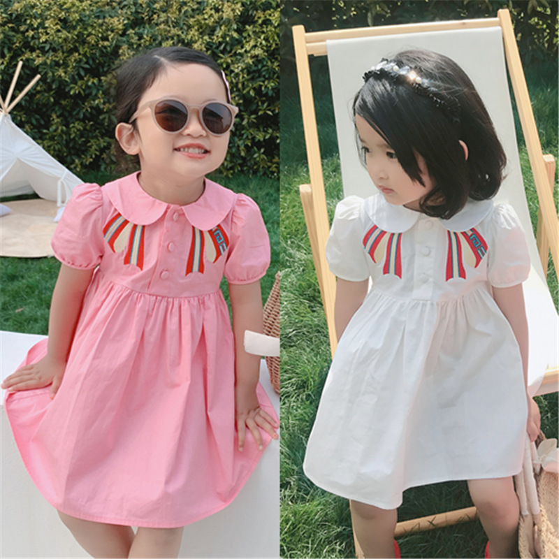 Mihkalev Girls Dresses Summer 2020 Children Party Dress For Kids Girl Tutu A-line 2-8year Litter Girl Dance Clothes Droshipping
