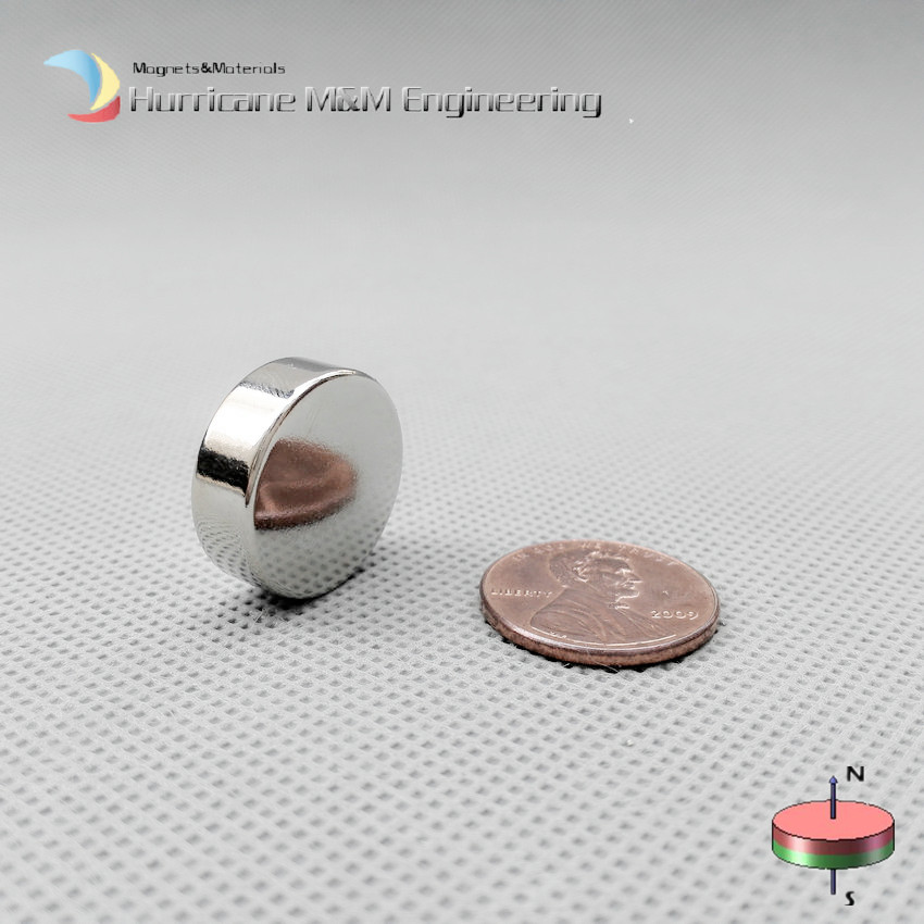 NdFeB Magnetic Disc Dia 19.05x6.35 mm Strong Magnet 3/4
