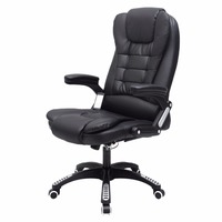 Executive Ergonomic Computer Desk Massage Chair Vibrating Home Office New HW50390BK