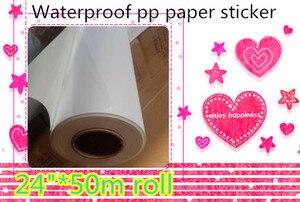 "Image 1 - 24""*50m china suppliers printer offset printing inkjet matt pp paper with back adhesive"