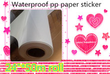 """24 """"* 50m chine fournisseurs imprimante impression offset jet dencre mat pp papier avec adhésif arrière"""