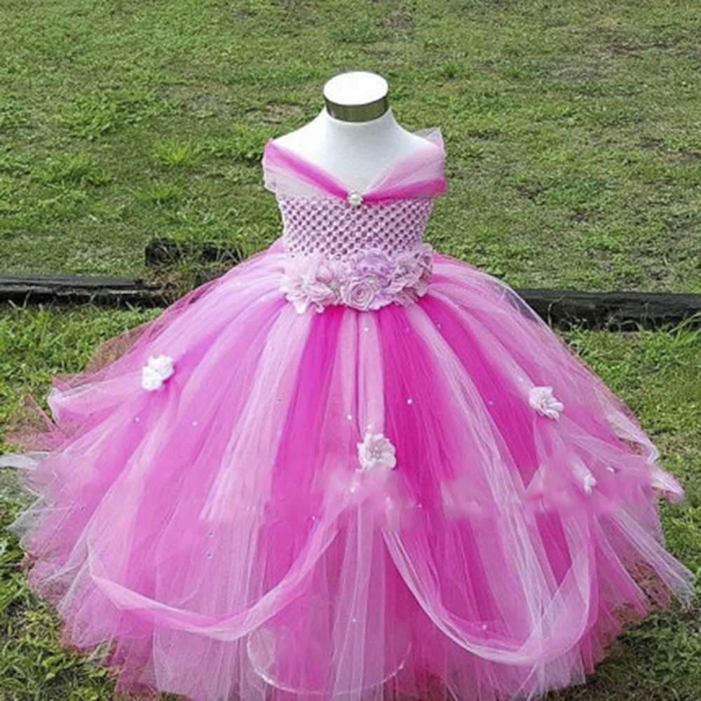 Romantic Miaoyi 2018 2-8Y Flower Girl Princess Dress Kid Party Pageant Wedding Bridesmaid Tutu Dresses Pink Lavender handmade tulle flower girl dress princess flower tutu dresses children kid baby pageant bridesmaid wedding party formal dresses