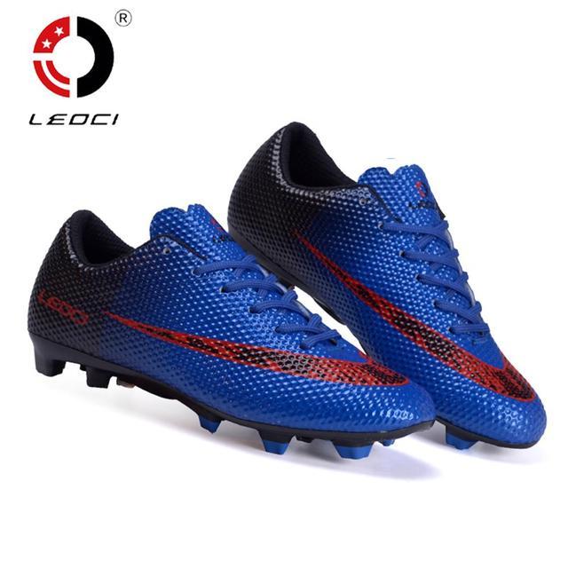 LEOCI hombres mujeres niños al aire libre césped FG botas De fútbol tierra  firme zapatos De fcebc45cb15e2