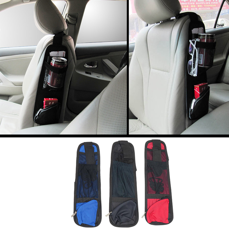 1 PCS Car Seat Storage Bag Car Seat Side Pocket Backseat Drink Holder Hanging Bags Debris Bag Auto Seat Side Hanging For Phone