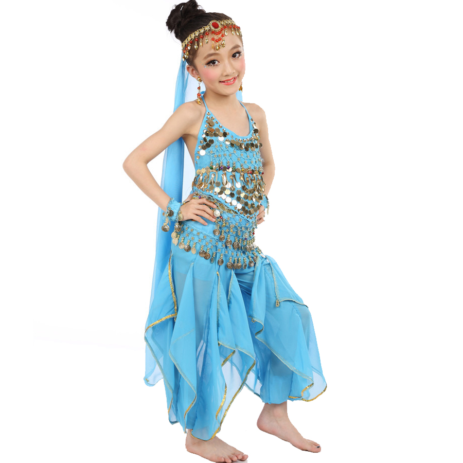 ee34a825e Hot ! 2017 Girls Belly Dance Costume Child Bollywood Dance Costumes ...