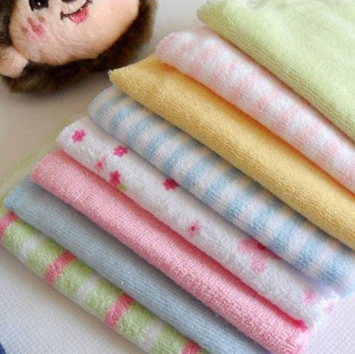 8pcs/lot Newborn Soft Baby Towels Saliva Towel Nursing Towel For Boys And Girls Bebe Toalha Handkerchief