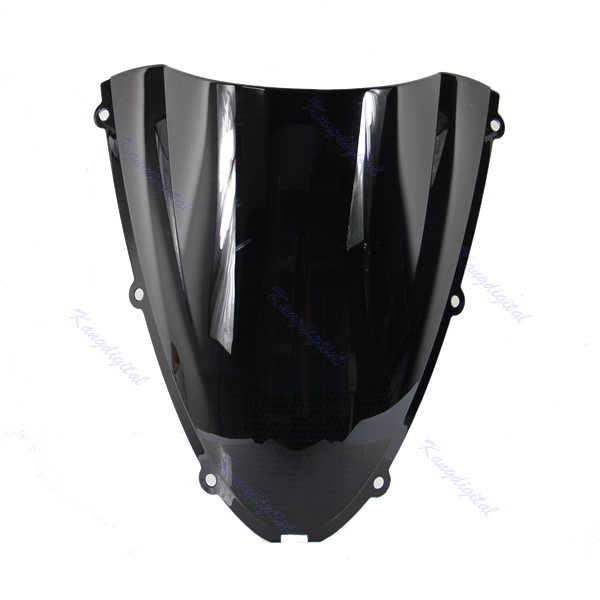Black ABS Plastic Motorcycle Windshield Windscreen For Kawasaki Ninja ZX6R ZX 6R