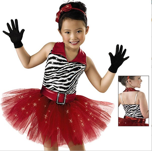 lovely child kids zebra red foil red tricot dance dress for girls/tap dance dress  sc 1 st  AliExpress.com : zebra costume child  - Germanpascual.Com