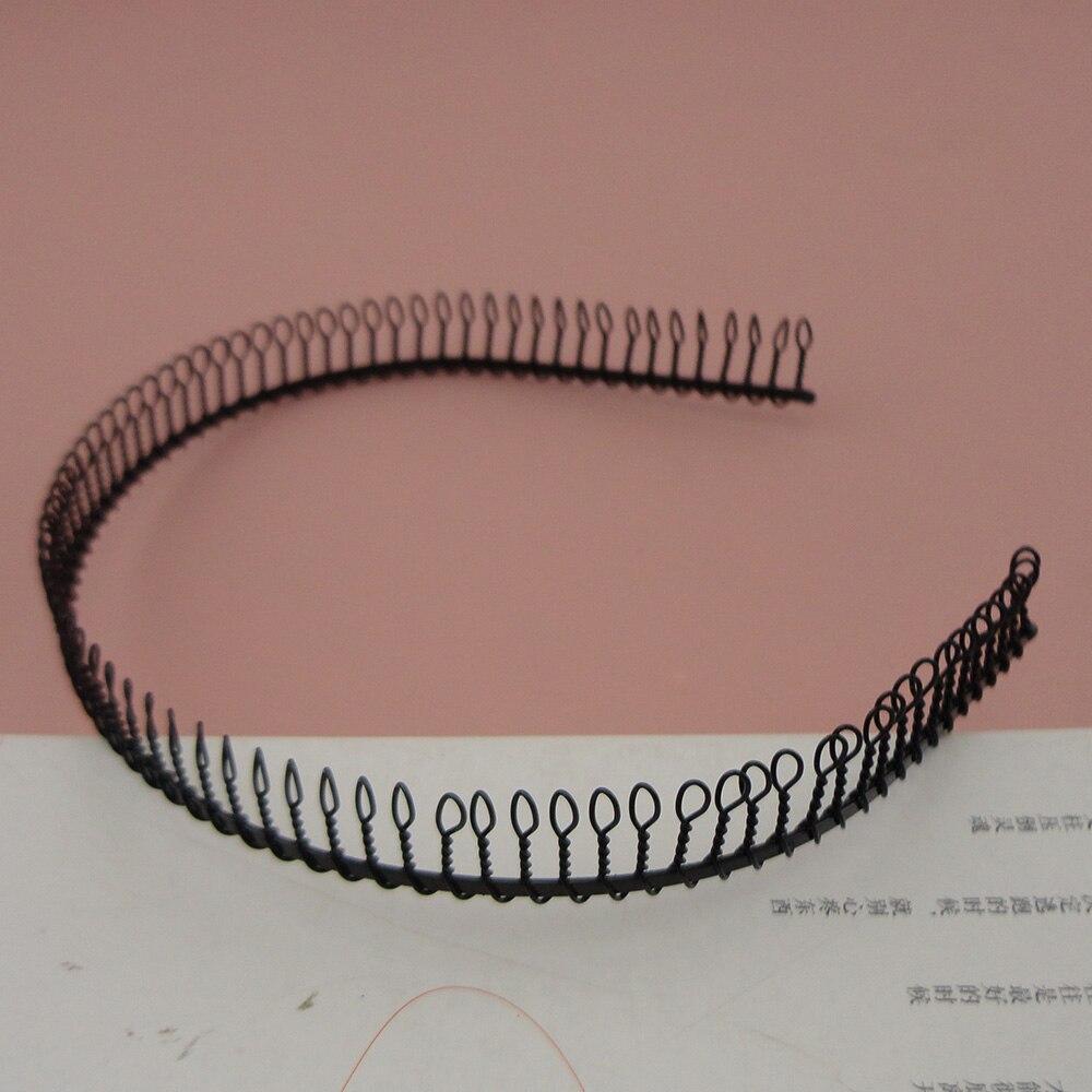 10 шт. черный полный Зубы Обычный металл расческа обручи для волос повязки на голову с 17 мм маленькими зубами, полные зубы металлические украшения для волос
