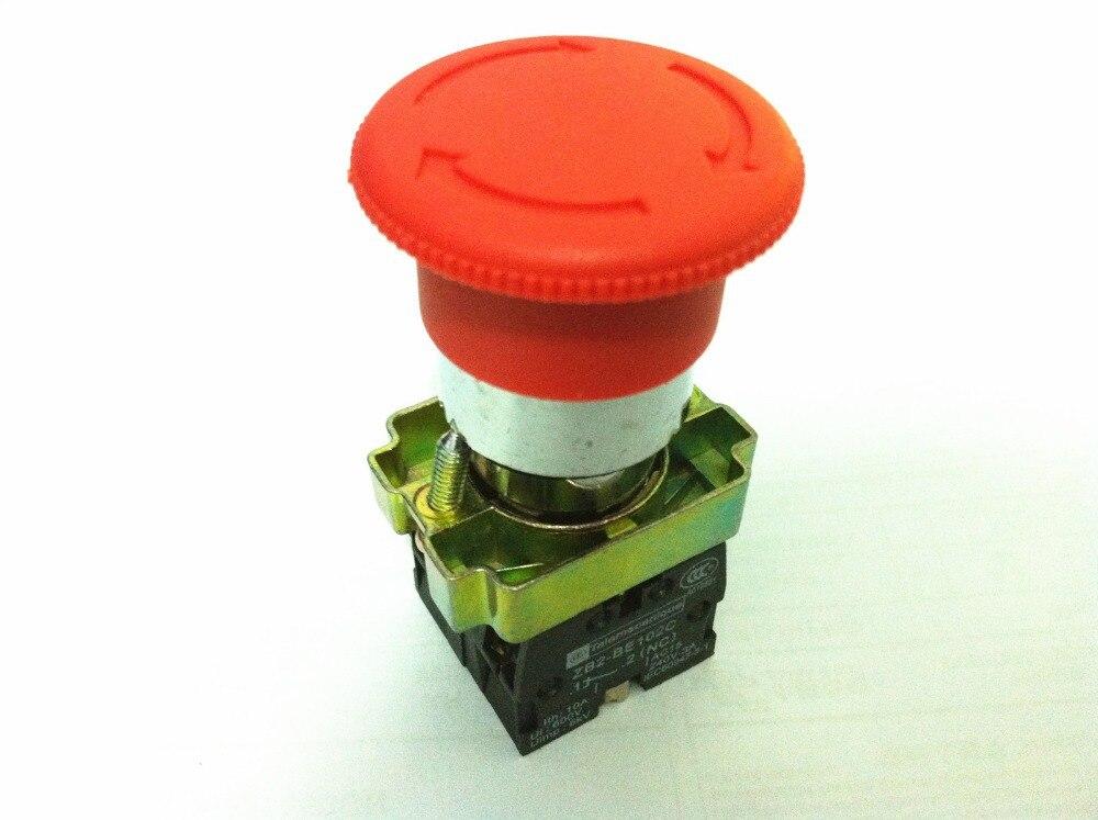 10 шт./лот XB2 BS545 XB2-BS545 твист сбросить 22 мм обратимся к релиз 1 N/C 1N/о Включите сброс кнопка аварийного останова фиксирующийся переключатель