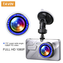 TAVIN Dash Cam 4 Inch Auto Camera Dual Lens FHD 1080P Car Dvr Video Recorder With Rear View Registrator Night Vision DVR