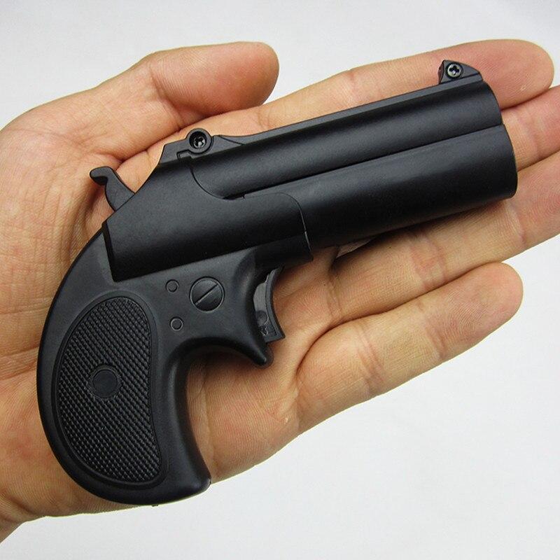 2 pçs ao ar livre armas de brinquedo 16 metal plástico mini pistola macio bala tiro arma menino presente liga cs jogo das crianças presentes manual arma de brinquedo