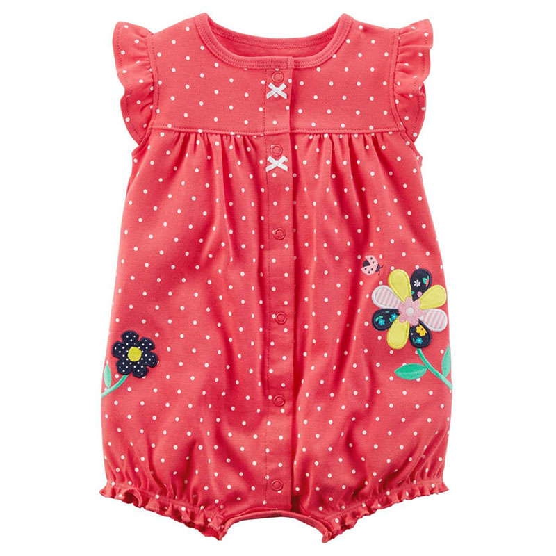 2018 High Quality Baby Rompers Girl Clothing Summer Short Sleeve Dress 100% Cotton Infant Jumpsuits Kids Clothes Newborn Roupas newborn baby rompers high quality natural cotton infant boy girl thicken outfit clothing ropa bebe recien nacido baby clothes