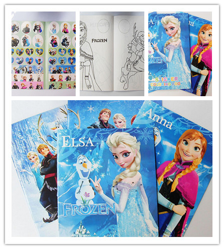 Free shipping New 5 Pcs Frozen Kids Sticker Coloring Book Children ...