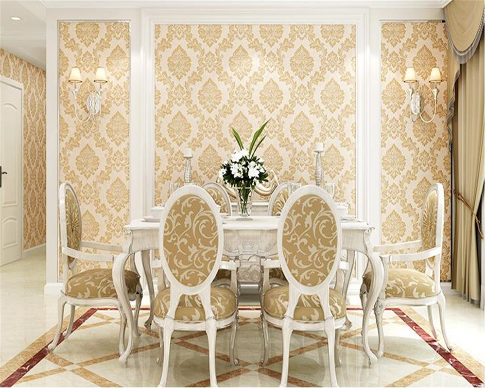 beibehang Retro European-style nonwoven bedroom wall paper deep embossed three-dimensional precision living room TV 3d wallpaper beibehang precision pressure 3d three dimensional non woven wallpaper sofa wall paper wallpaper living room bedroom full shop
