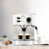 Italian Coffee Semi automatic Coffee Machine Pump Type Espresso Household and Commercial One Machine Steam Foam System