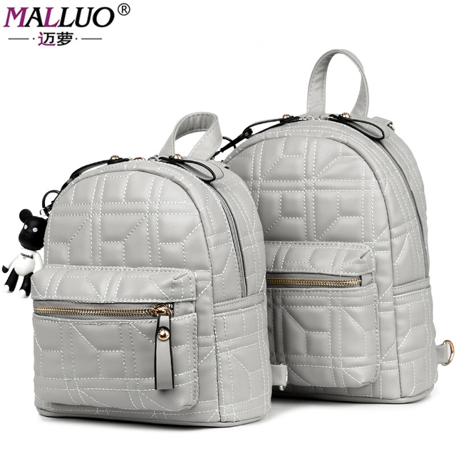 a08c5c7ccf MALLUO Brand Women Backpacks 2017 New Arrive Fashion Leather Women School  Bags For College Student Travel High Quality Schoolbag