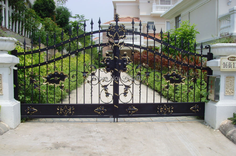 Steel Iron Gate Iron And Gate Residential Security Gate