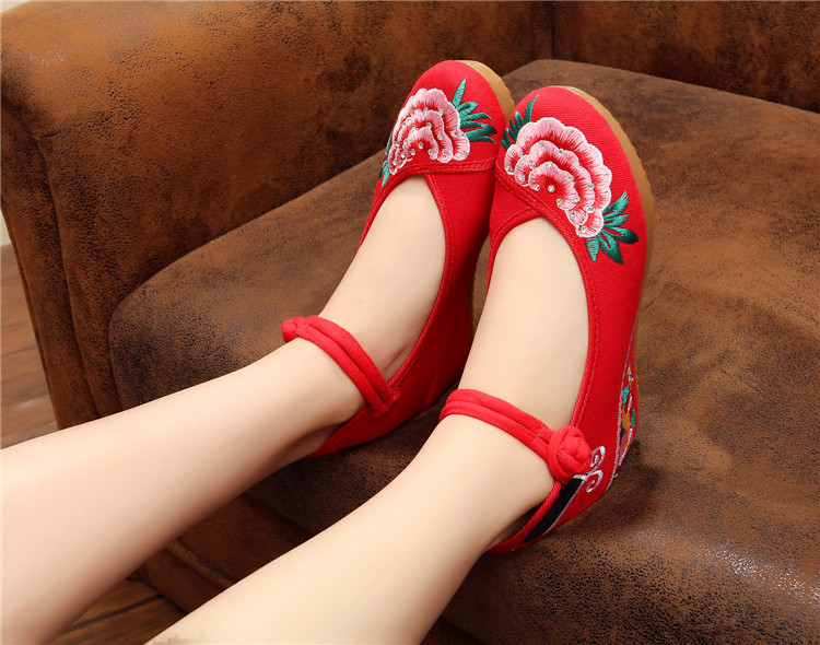 Nouvelles Noir Tendon Strass 5 De 40 Cm Pékin 2019 En Tissu Chaussures Vieux rouge Augmenter Ciel Femmes Bas Style Épaississement 35 pu dUwnCOq