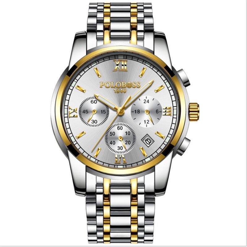 цены на Watch men's mechanical watch fully automatic waterproof and hollowed-out precision steel band fashionable 2018 new boy men' в интернет-магазинах
