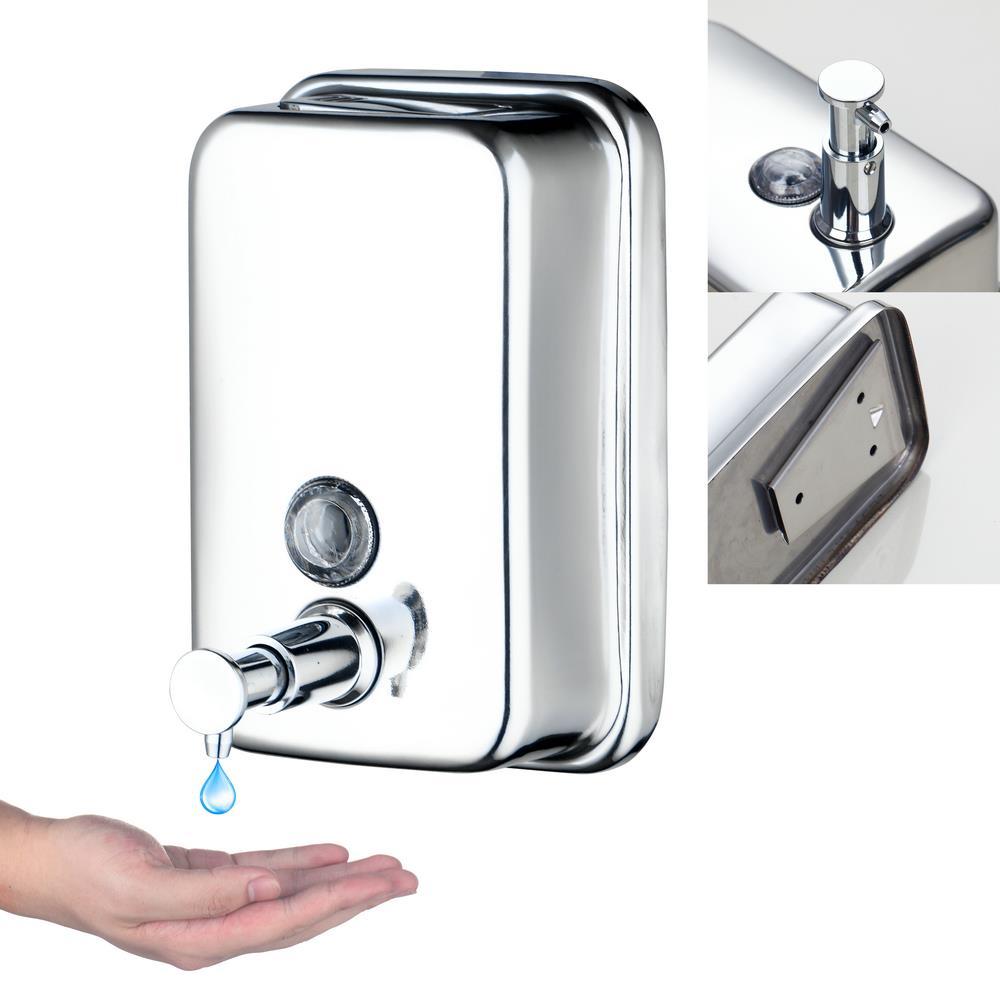 Best 5729 1 Modern Design Bathroom Washroom Stainless Steel Single Soap Dispenser Wall Mount