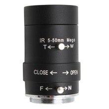 กล้องรักษาความปลอดภัยกล้องวงจรปิด5 50มม.เลนส์VarifocalซูมCS Mountเลนส์สำหรับกล้องUSB