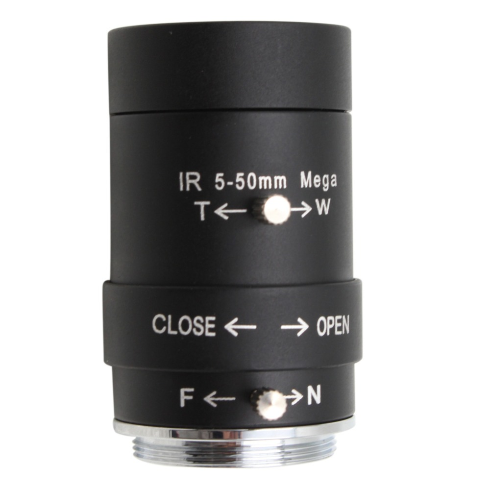 CCTV Security Camera 5-50mm  Varifocal Lens  Manual Zoom  CS Mount Lens ,free Shipping