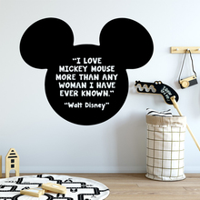 Beauty Mickey Mouse Waterproof Wall Stickers Art Decor For Home Living Room Bedroom Background Decal