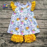 AICTON 2017 Summer Back To School Kids Clothing Children Boutique Outfits Cute Baby Clothing Sets 100
