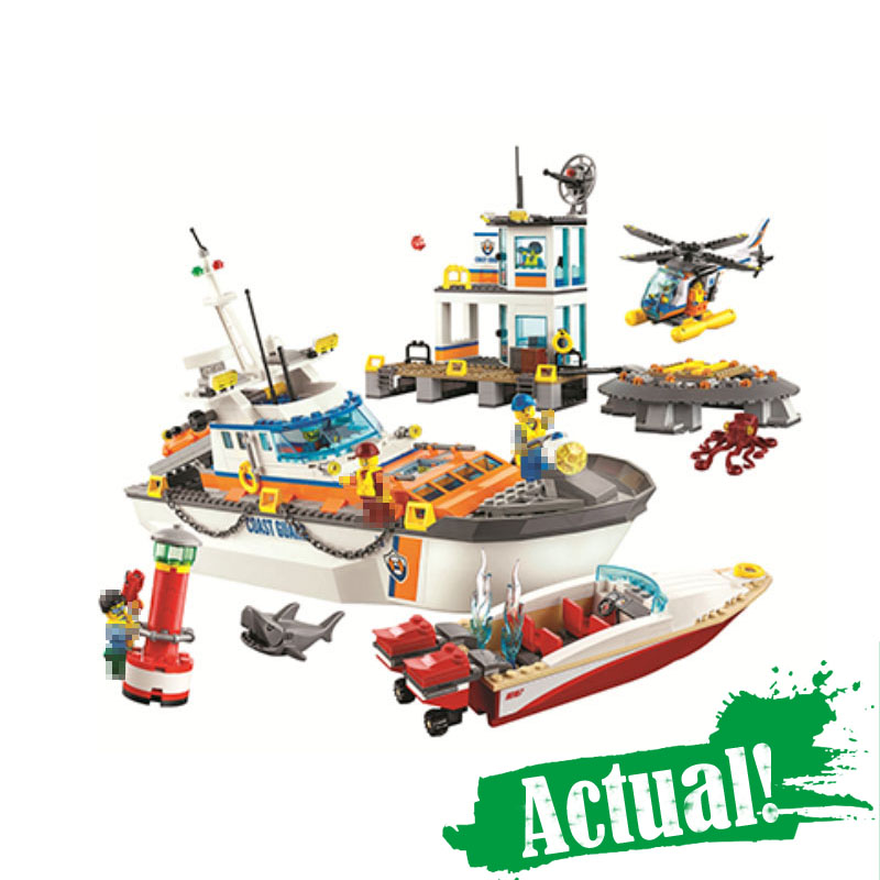 Bela 10755 844Pcs City Series Police Coast Guard Headquarters Base Building Blocks Bricks Toys for children gift legoINGly 60167 city architecture mini street scene view reims cathedral police headquarters library fire departmen building blocks sets toys