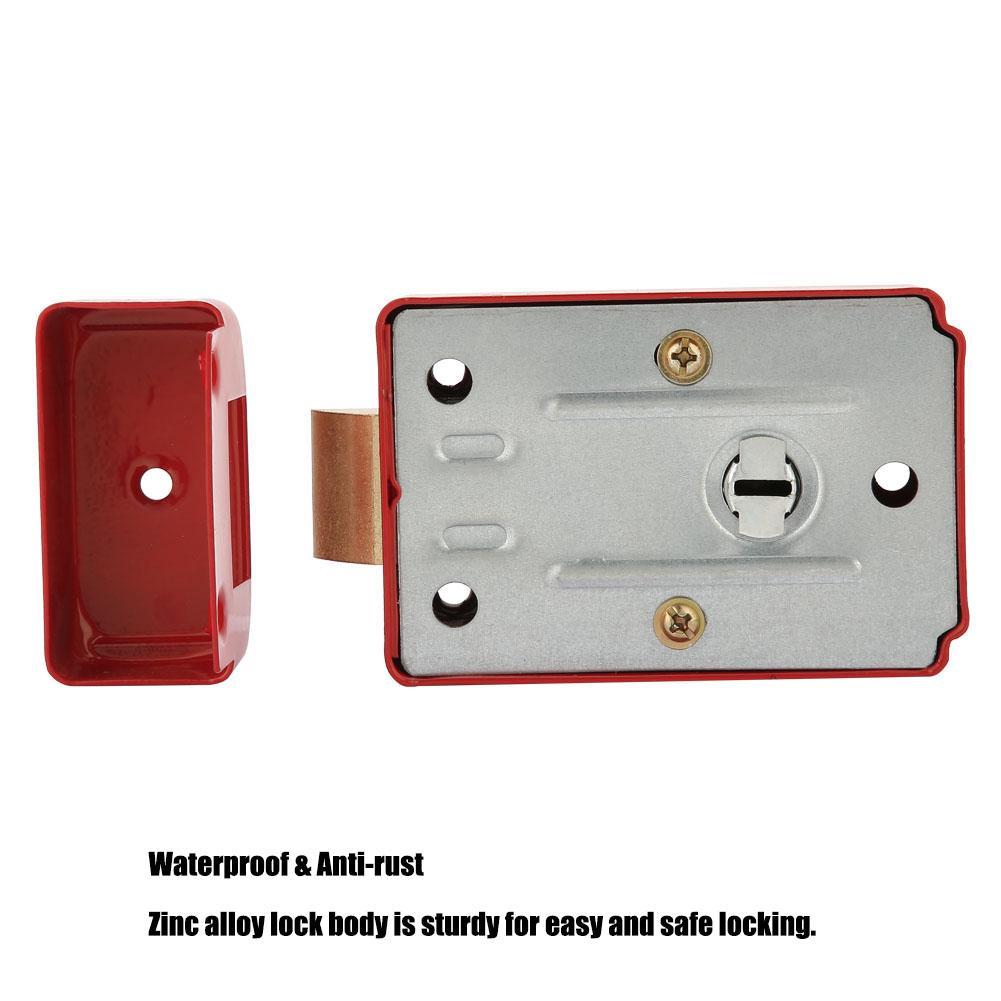 Zinc Alloy Rim Lock Anti theft Single Cylinder Dead Bolt Latch with 3 Keys for 45 55mm Door Lock Suitable For Bathroom Home Door in Door Locks from Home Improvement