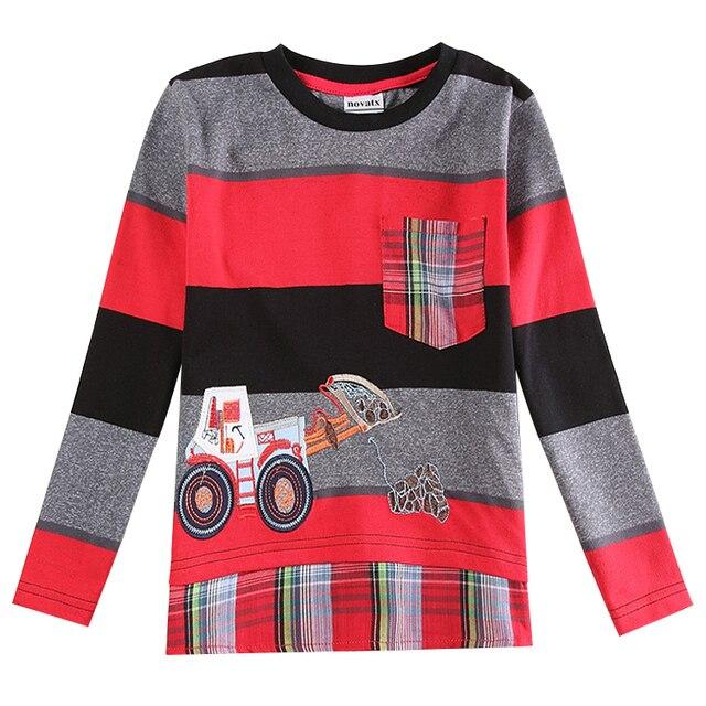 Мальчики футболка хлопок автомобиль детская одежда нова дети мальчики рубашки полосы весна/осень длинный рукав футболка для мальчики A5920