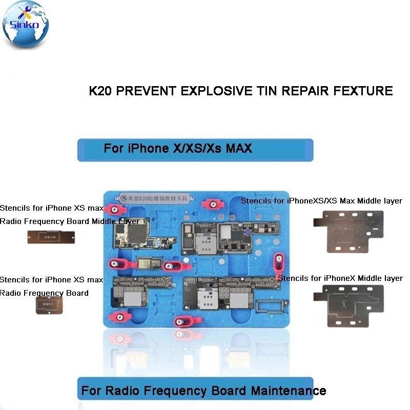 MJ K20 Multifunctional Motherboard Repair Fixture For IPhone X/XS/XS MAX  Prevent Explosive Tin Repair Fixtures