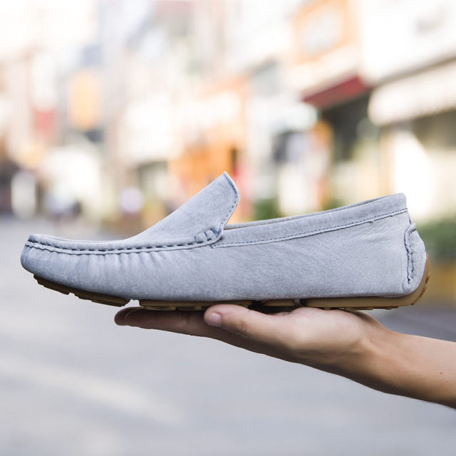 Merkmak Brand Fashion Soft Moccasins Men Loafers High Quality Genuine Leather Shoes Mens Flats Suede Driving Shoes