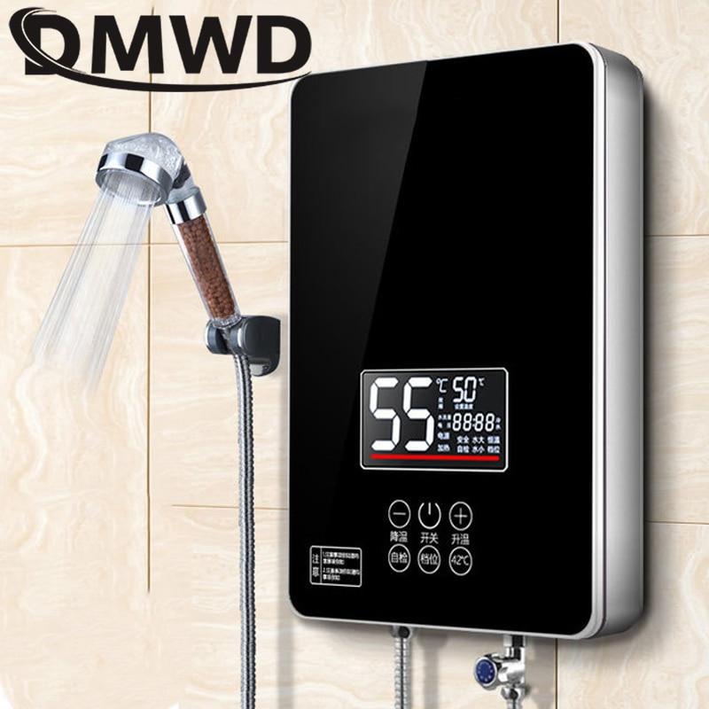 DMWD 6000W chauffe-eau électrique instantané cuisine salle de bain instantané sans réservoir chauffage douche arrosage radiateurs affichage de LED