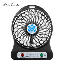 1 PC Malloom Portabel Mini USB Fan LED Light Air Cooler Meja kecil 18650 Baterai Fan untuk PC Laptop Cooling Fan Ventilador(China)