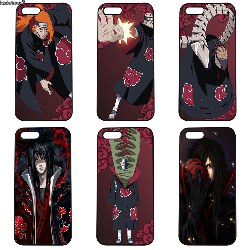 Hard PC Plastic Cover Cartoon Anime Naruto Akatsuki Phone Case for iphone 8 7 6 6S Plus X 5S 5C 5 SE 4 4S iPod Touch 4 5 6 Shell