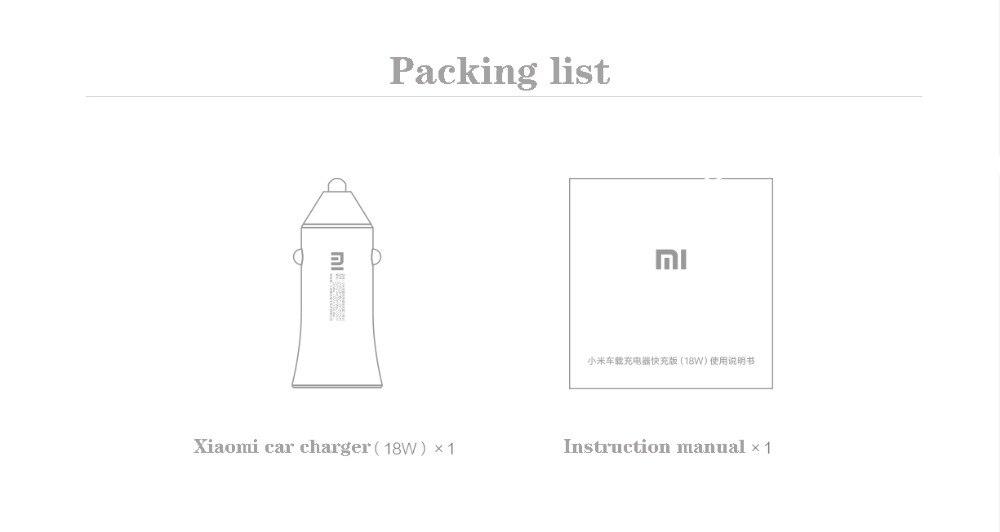 Xiaomi MI Car Charger 18W d10