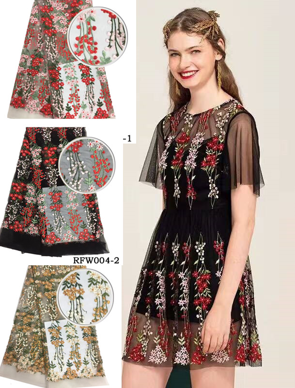 Nigerian lace fabrics for wedding 2017 flower embroidered fabric african laces fabrics for wedding for party
